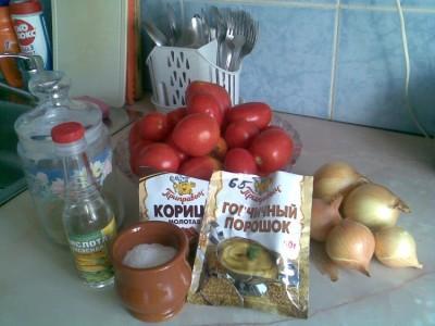 заготовка кетчупа на зиму
