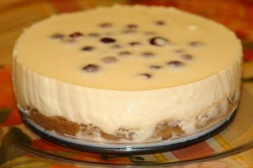 торт без выпечки