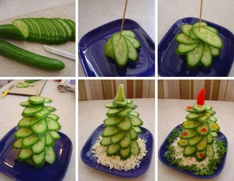 оригинальные салаты из овощей фото