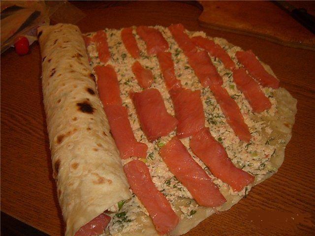 Лаваш с начинкой рецепты с рыбой