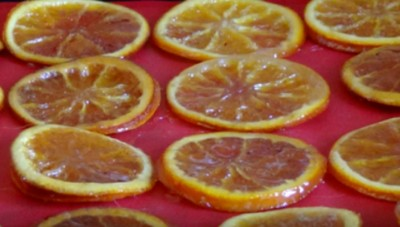 апельсин в сахаре