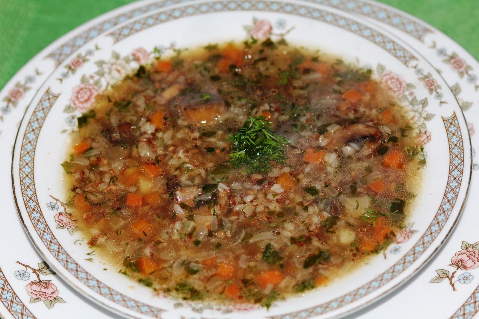 Гречневый суп рецепт без мяса с пошагово в