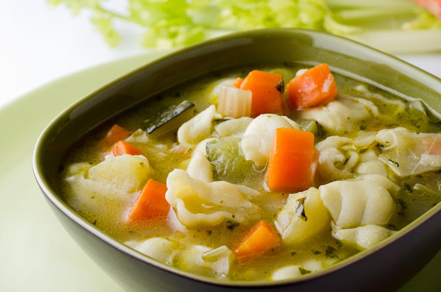 рецепт простого овощного супа пюре