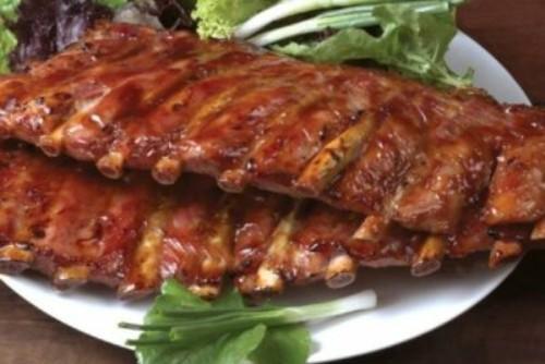 свиные ребрышки с медом в духовке