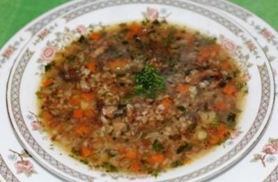 суп из гречки