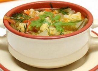 суп капустой