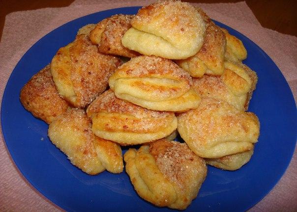 Печенье из творога треугольники рецепт с фото