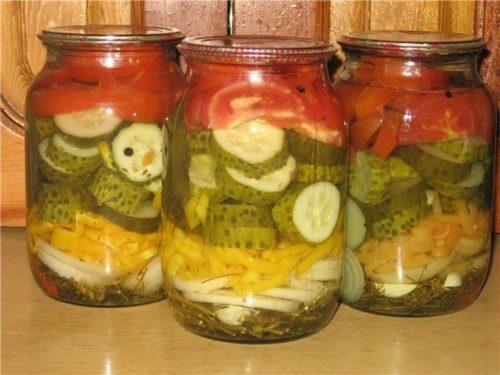 лето салат на зиму