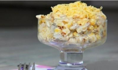 Салат с грибами, сыром
