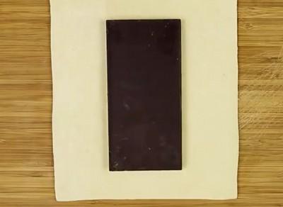 пирог с шоколадкой