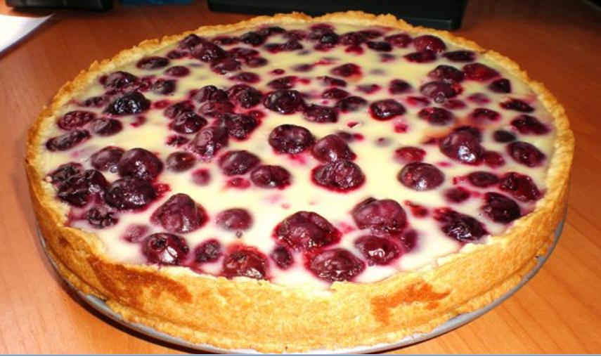 Пирог с вишней замороженной фото иы