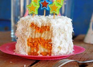 Вегетарианский торт из моркови
