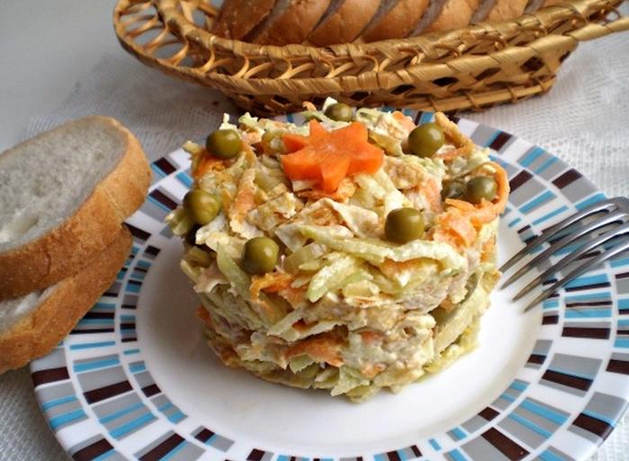 салат из редьки рецепт с курицей и