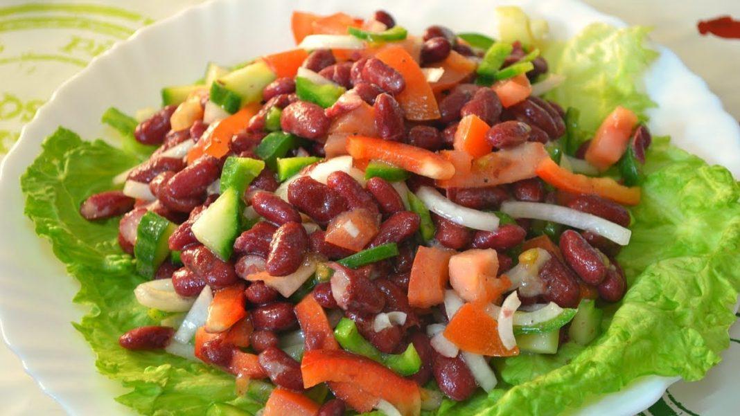 Простые рецепты салатов с фасолью фото
