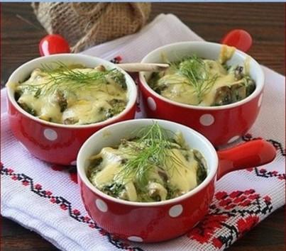 Рецепт приготовления жульена из грибов и