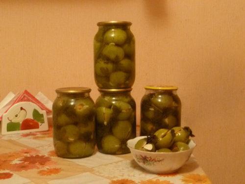 консервация зеленых помидоров