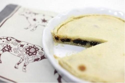 сметанный пирог с черносливом