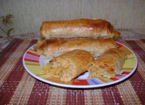 ленивые пирожки с капустой