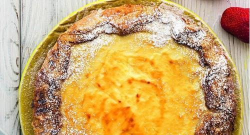 Пирог с творогом и медом