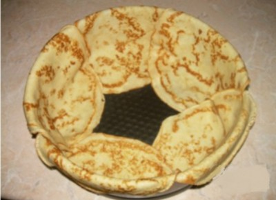 Торт блинный с суфле