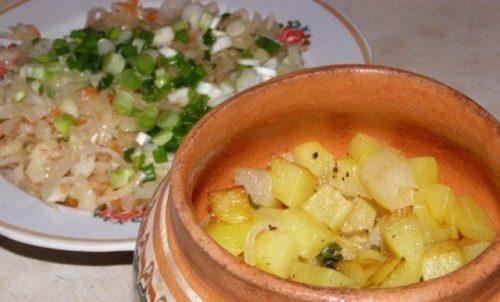 Картошка тушеная