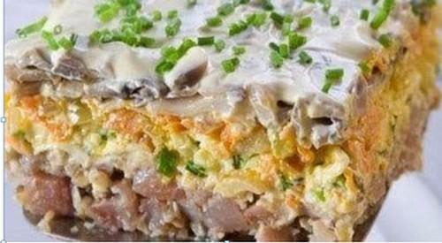салат с селедкой