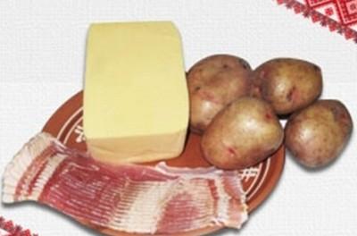 картофель в беконе